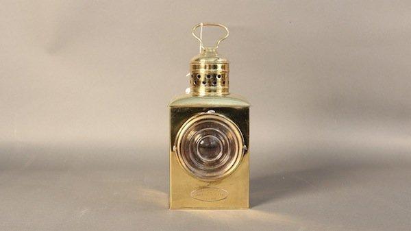 Geo B. Carpenter brass ship's bow lantern