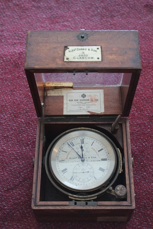 Ship's chronometer by Alex Dobbie & Son