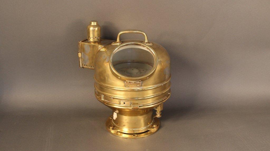 Solid brass British Navy Binnacle