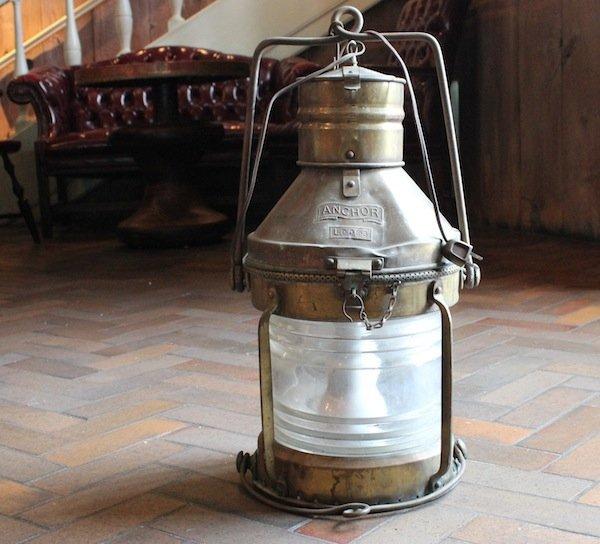 Brass Anchor Lantern