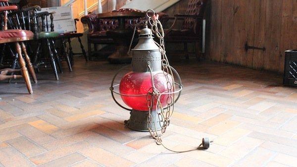 Red lens onion lamp