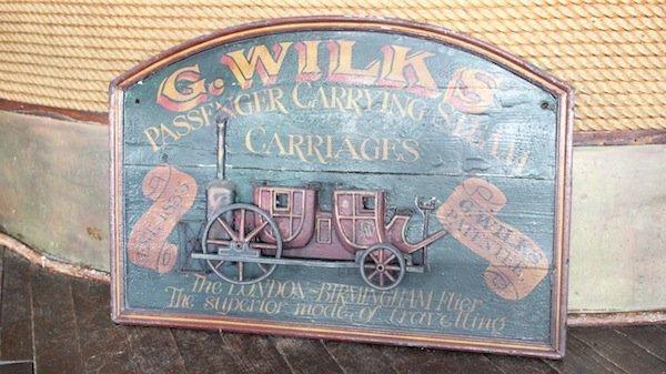 Wood Trade sign, G. Wilks