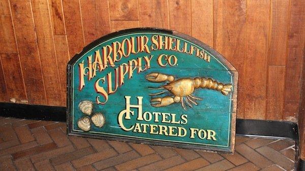 Shellfish Trade Sign