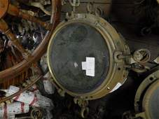 Six solid bronze ship's portholes as a group