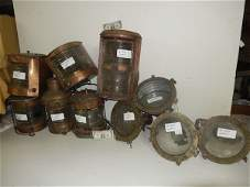 10 copper and brass ships lights
