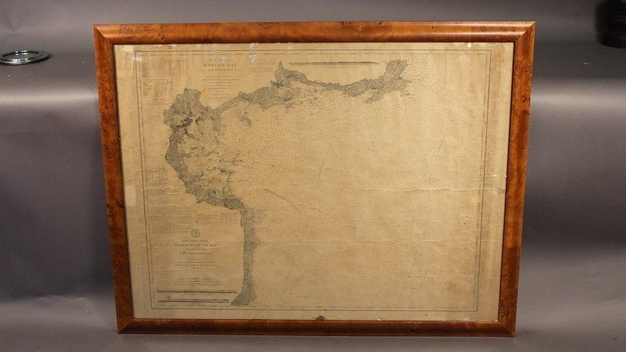 Coast survey chart of Massachusetts Bay