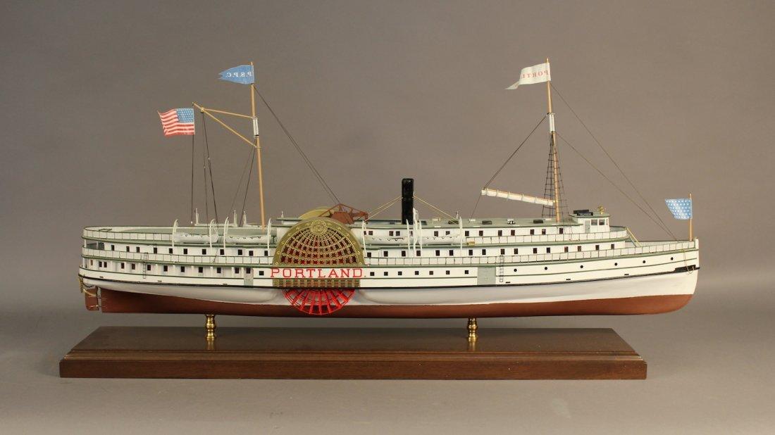 Scale model of the steamer Portland