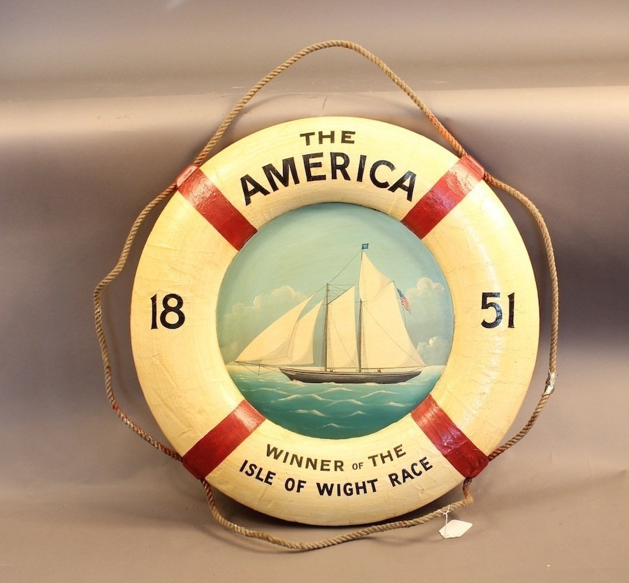 """Decorated lifering of yacht """"America"""""""