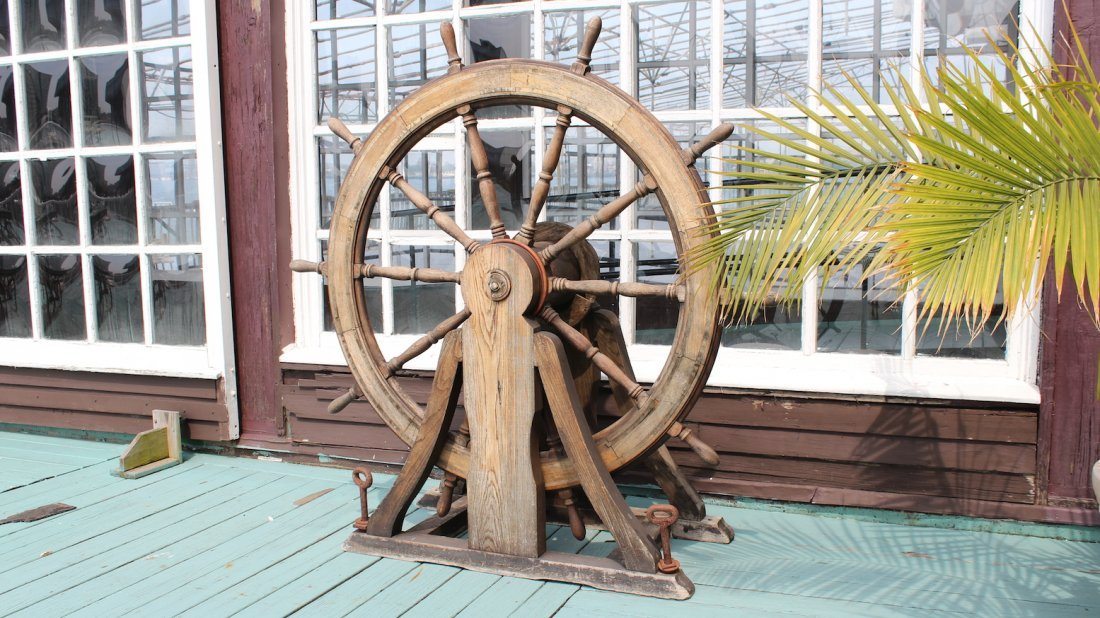 Ship's wheel from Anthony's Pier Four