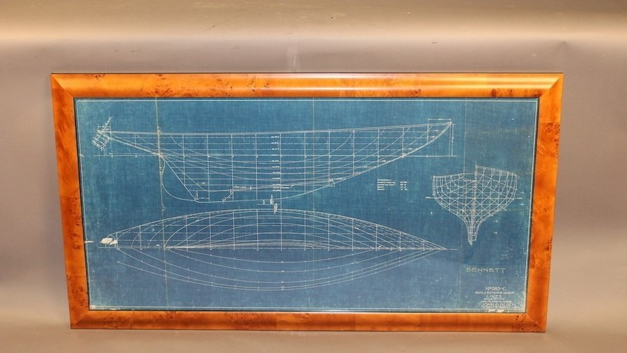 1936 John Alden yacht Blueprint plan