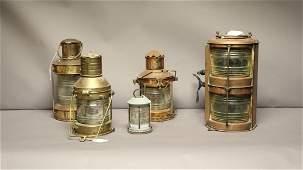 Group of Five Ship Lanterns