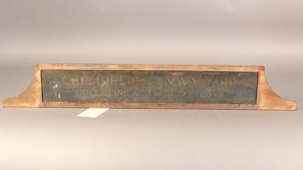 Philadelphia Naval Yard Sign