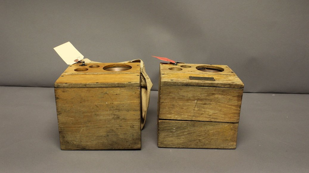 Two Craftsweld Hard Hat diver's radios