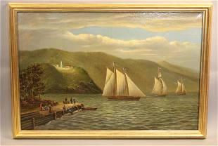 Hudson River scene by Albert Nemeethy