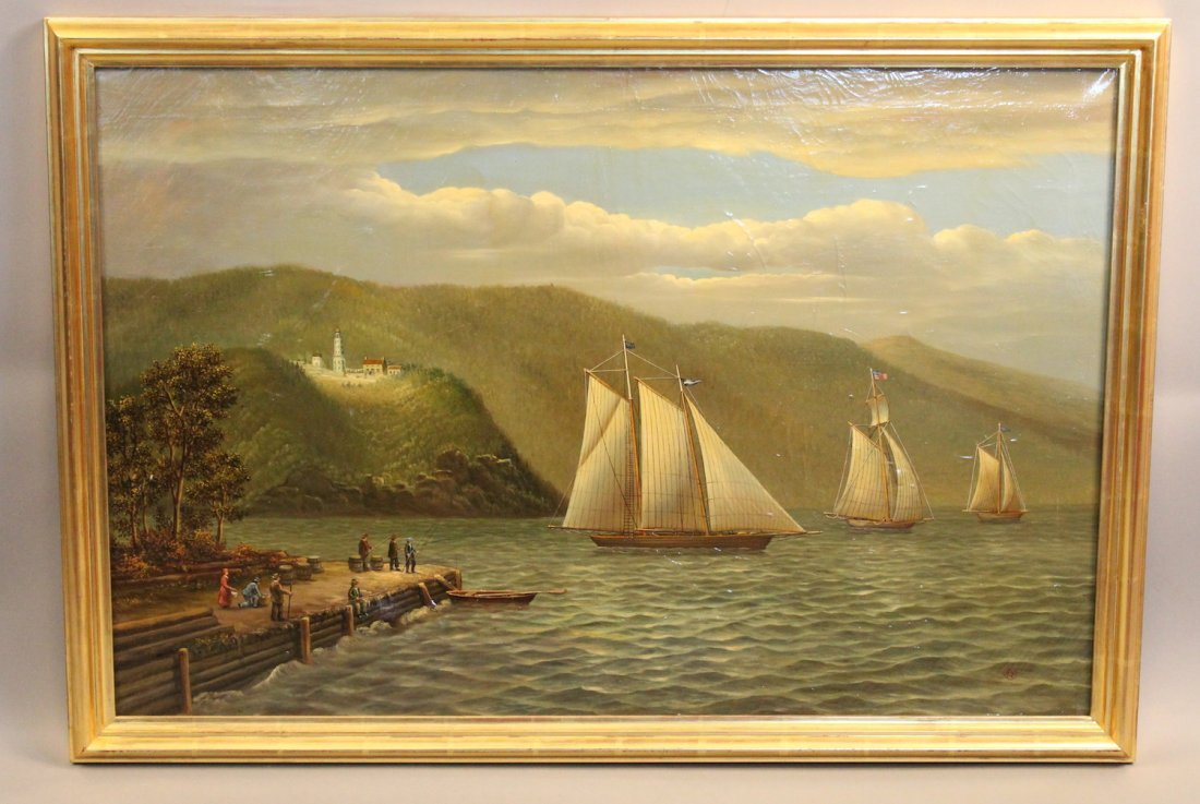 Hudson River scene by Albert Nemeethy