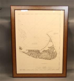 American Neptune chart of Nantucket