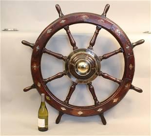Gorgeous eight spoke yacht wheel