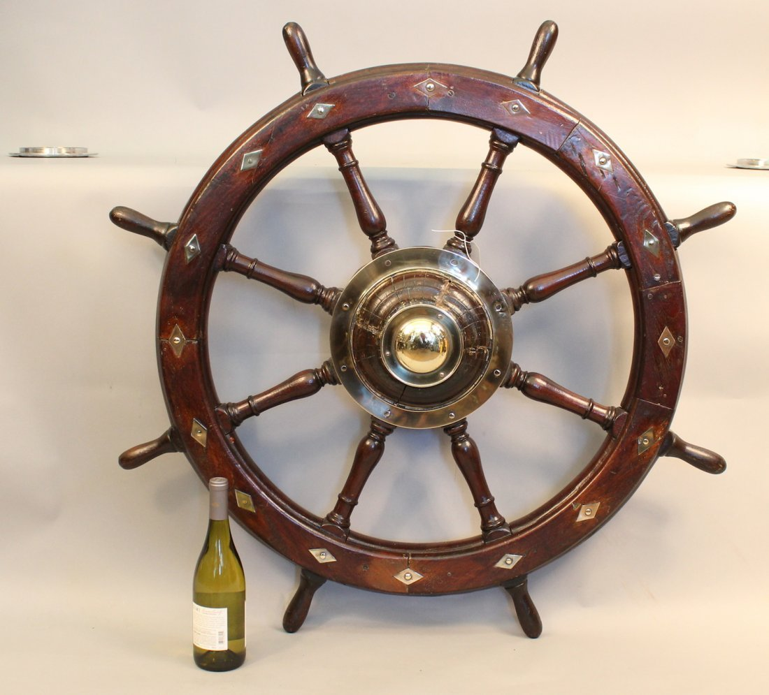 Gorgeous eight spoke yacht wheel