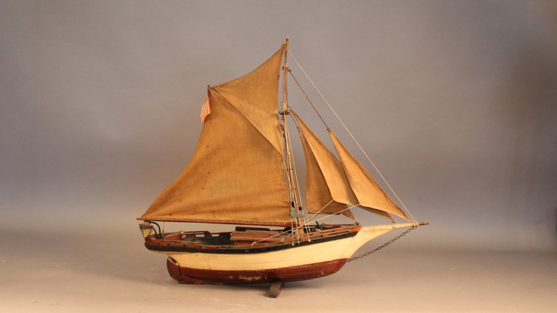 Vintage antique yacht model