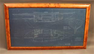 Original 1937 Alden yacht blueprint