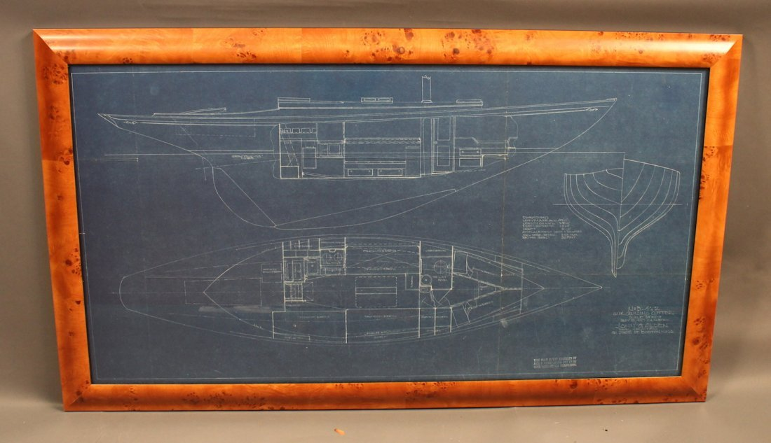 Original 1937 Alden yacht blueprint