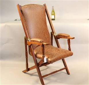 19th century Campaign chair