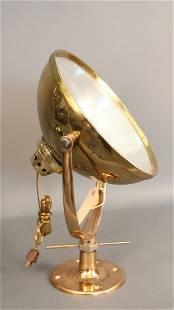 Solid brass nautical spotlight