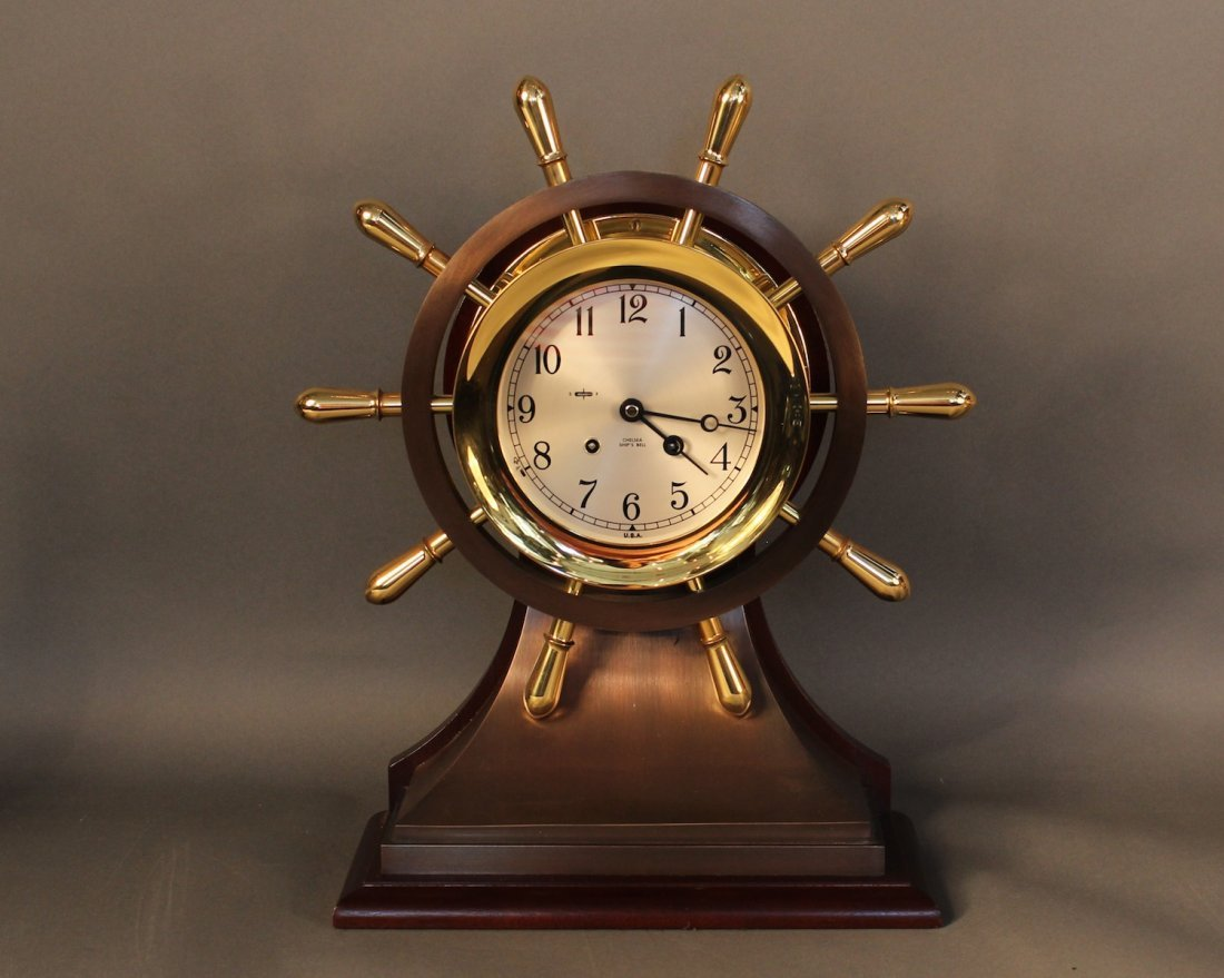 Large Chelsea Ship's Bell clock