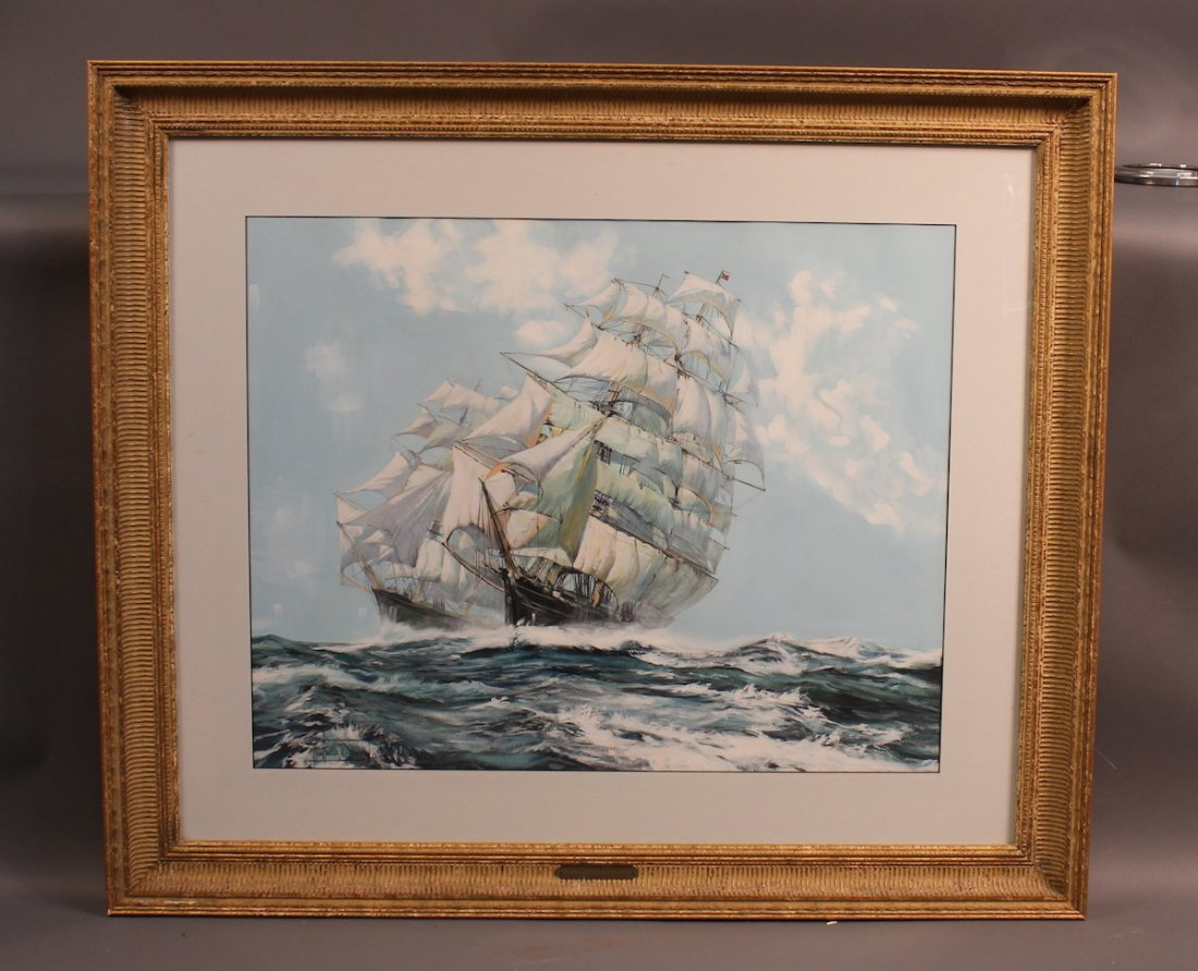 Watercolor by Montague Dawson