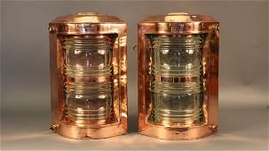 Port and Starboard Solid Copper Ship Lanterns