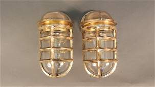 Pair of Solid Brass Ships Lights