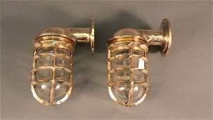 Solid Brass Ships Companionway Lights