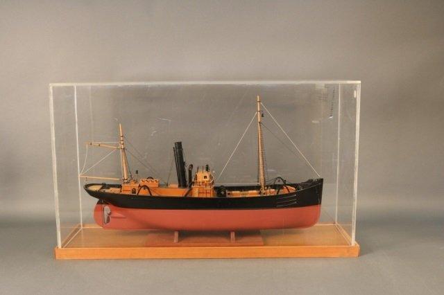 Cased Model of a Swedish Fishing Trawler