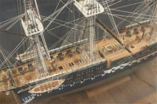 Cased Model of the USS Constitution