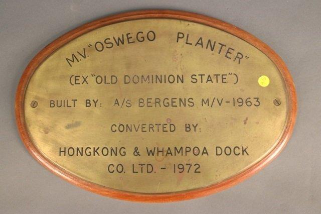 Ship Builder's Plate Oswego Planter