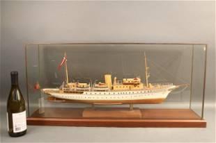 Cased Ship Model of Yacht Dannebrog