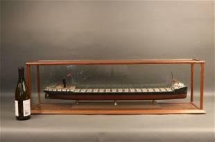 "Cased Ship Model of Ore Carrier ""Strathcona"""