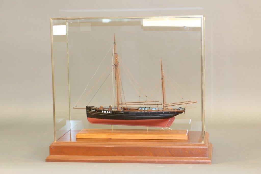 Model of Brixham Smack Fishing Trawler