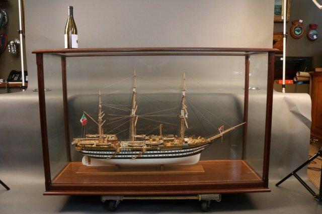 Ship Model of Italian Ship Amerigo Vespucci