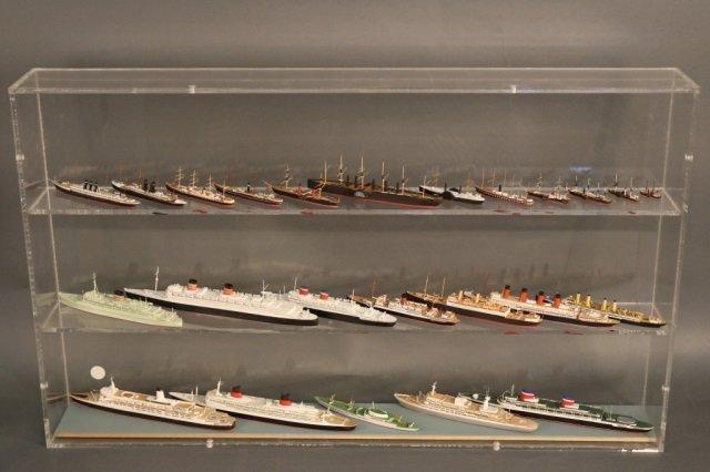 Twenty-Four Bassett Lowke Steamship Models