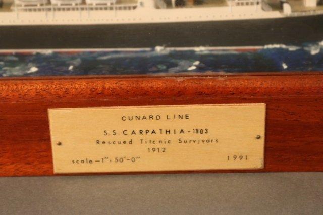 Cunard Line steamship SS Carpathia Model - 5