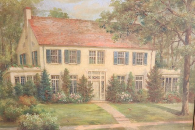 Andreas Roth Oil of a Colonial Home
