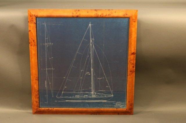 Original Blueprint of a John Alden Yacht