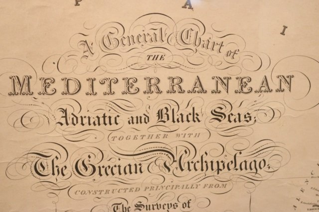 Original Chart from 1838 by JW Norrie Hydrography