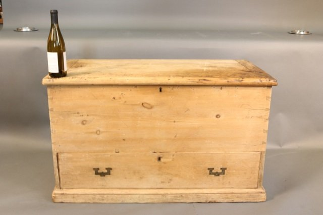 19th Century Blanket Chest Constructed of Pine