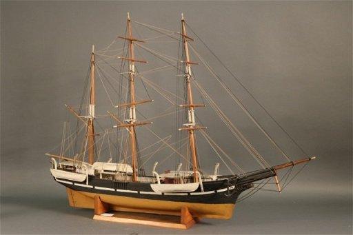 Antique Ship Model Of Whaleship Es
