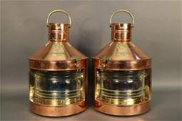 Substantial Copper Port & Starboard Ship's Lantern