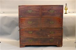 Two Part China Trade Camphor Campaign Chest