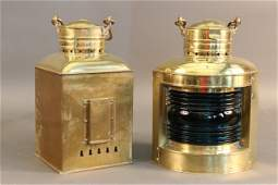Pair of Solid Brass Port and Starboard Lanterns
