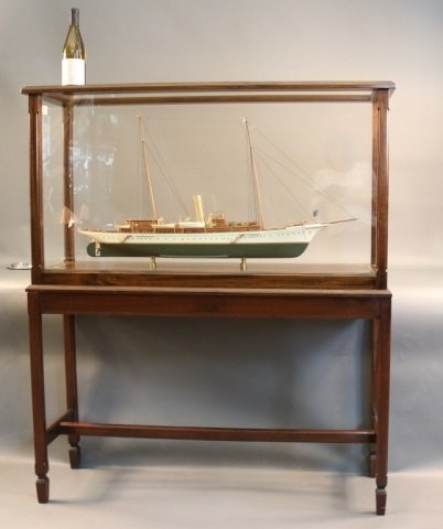 """Cased Model of American Steam Yacht """"Aphrodite"""" - 2"""